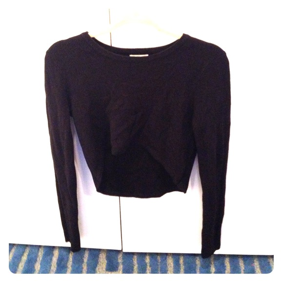 Urban Outfitters Sweaters Black Cropped Sweater Poshmark