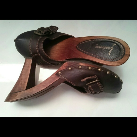 Leather Sabot clogs shoes  Made in Spain