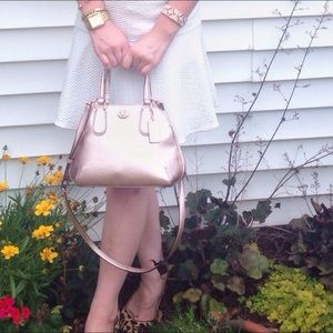 NWT Coach mini Prince Satchel in Rose Gold
