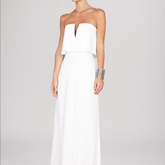 3c63a0283220 BCBGMaxAzria Dresses | Nwt Bcbg White Alyse Strapless Gown Size 0 ...