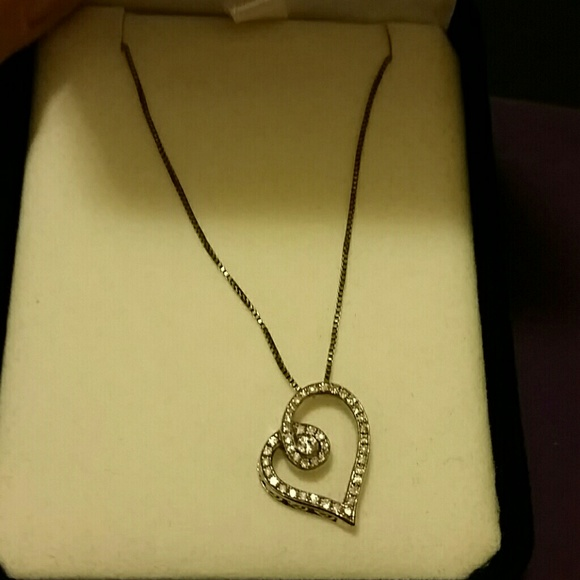 Kays open heart necklace