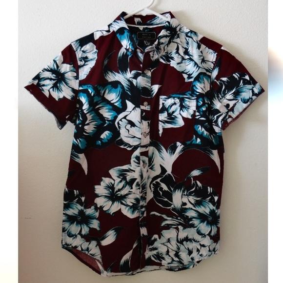 7c7ed84afbb 21 MEN Tropical Floral Shirt