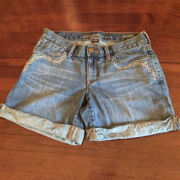 79% off Eddie Bauer Pants - Eddie Bauer boyfriend fit denim shorts ...