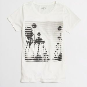 J.crew Striped Photo Collector Tee