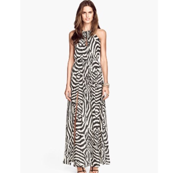 79% off H&M Dresses & Skirts - NWOT H&M Zebra Maxi Dress from ...