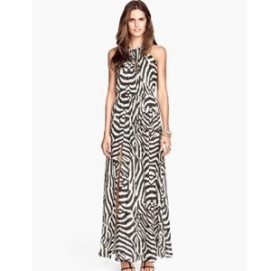 Zebra maxi dress h&m