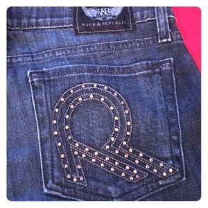 Rock & Republic Dark Blue Studded Jeans