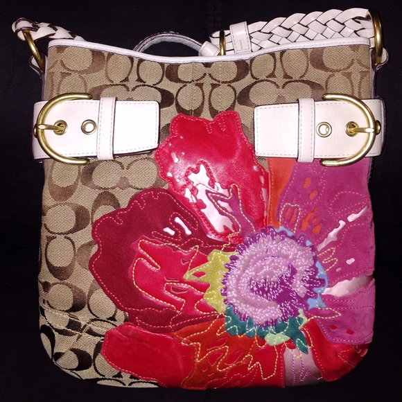 Coach Red Poppy Flower Purse Coachsale