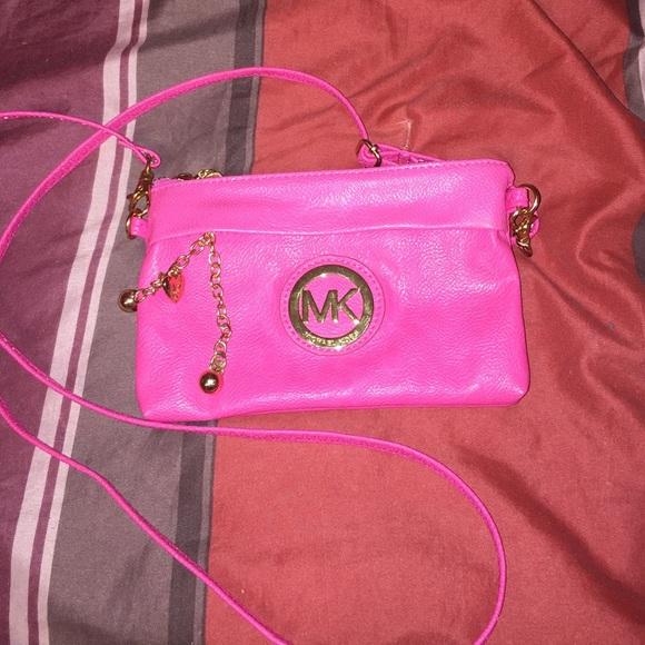 002fe2b27bea Michael Kors Bags | Mk Look Alike Hot Pink Crossbody Bag | Poshmark