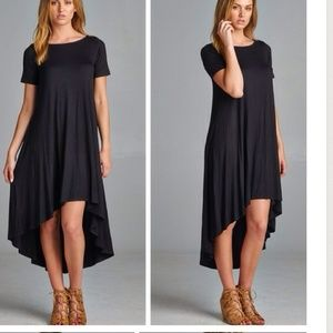 Black Hi Lo Dress