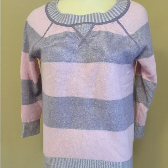 80% off J. Crew Sweaters - J. Crew pink purple stripe cashmere ...