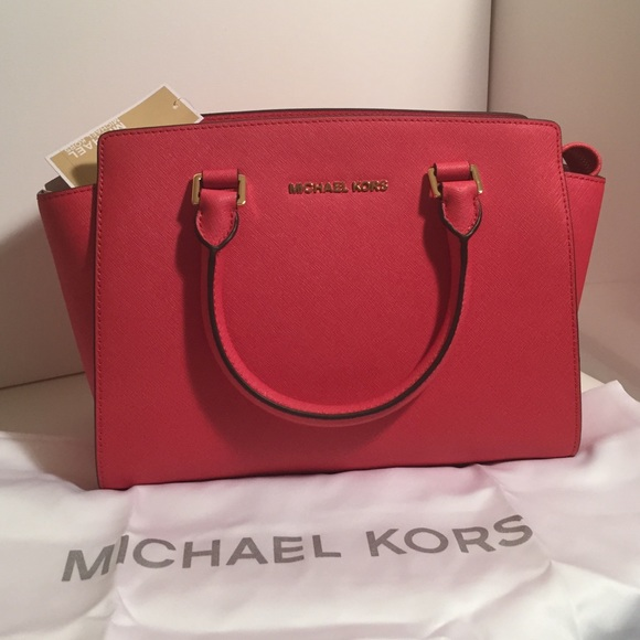26524499a29f Michael Kors Bags | Authentic Mk Selma Watermelon Medium | Poshmark