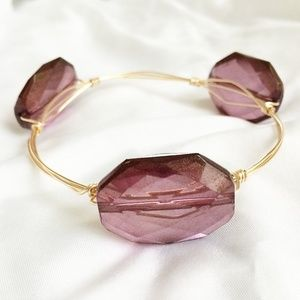 Girl About Town Jewelry - Luxe Wire Wrap Bangle - Malbec