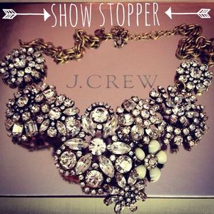 J. Crew Crystal Floral Statement Necklace