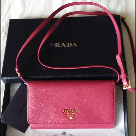 45109b8922f2 Prada Bags | Saffiano Leather Wallet Wstrap Brand New | Poshmark