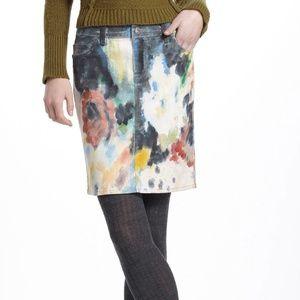 Anthropologie Night Garden Skirt 27 NEW