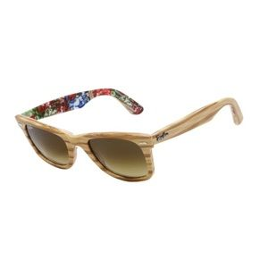 Ray Ban wood Frame special edition Sunglasses
