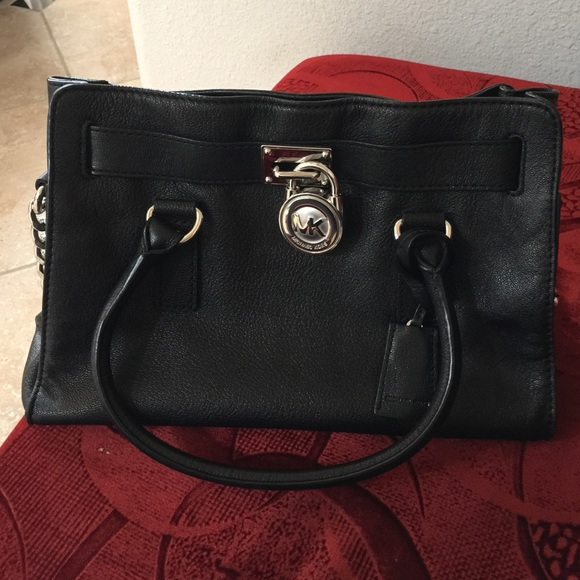 Soft black leather Hamilton satchel in medium. M 5596d4fb9d64e51fbe003e11.  Other Bags you may like. Authentic mk purse 6085e0bfd144d