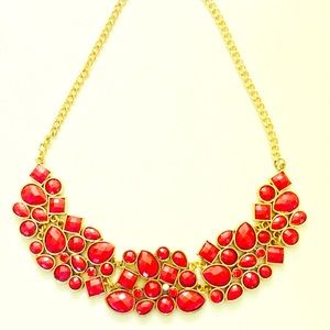 Flash Sale! New Red statement choker necklace