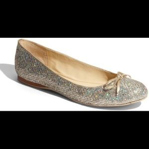 Enzo Sparkling Gold and Silver Flats