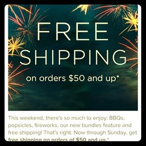 Free shipping on orders $50 and up