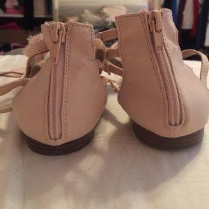 755553cb09c0 Qupid Shoes - Nude  Pink back zip sandals