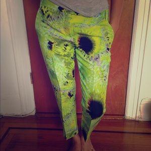 Tibi Printed Silk Linen Pants