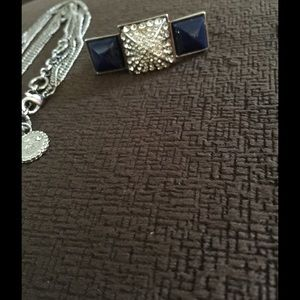 Jessica Simpson Jewelry - Jessica Simpson  Blue Necklace and Ring