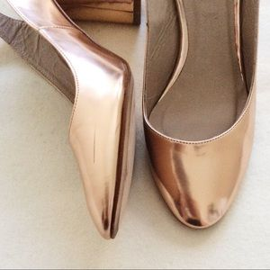 dddee492ad6 Zara Shoes - Zara Ankle Strap Heels - Rose Gold