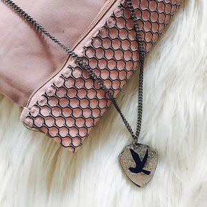 Jewelry - Silver & Blue Bird Necklace