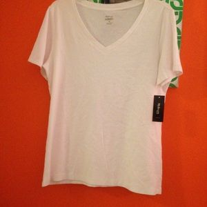 Style & Co Tops - CLEARANCE White V-neck T-Shirt