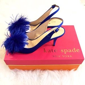 kate spade Shoes - 🆕NWT Kate Spade Blue Feather Wedding Belles Heels