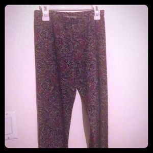Paisley design stretchy leggings OS fits up to 1x