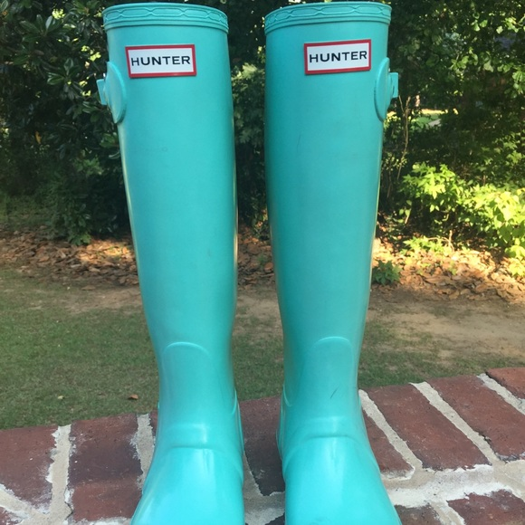 Tall Hunter Rainboots Tiffany Blue / Mint 6