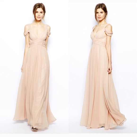 good selling big selection of 2019 rich and magnificent Forever Unique (ASOS) Blush Maxi Gown - Size 10
