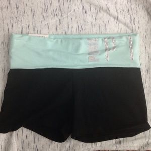 Victoria's Secret pink foldover yoga shorts