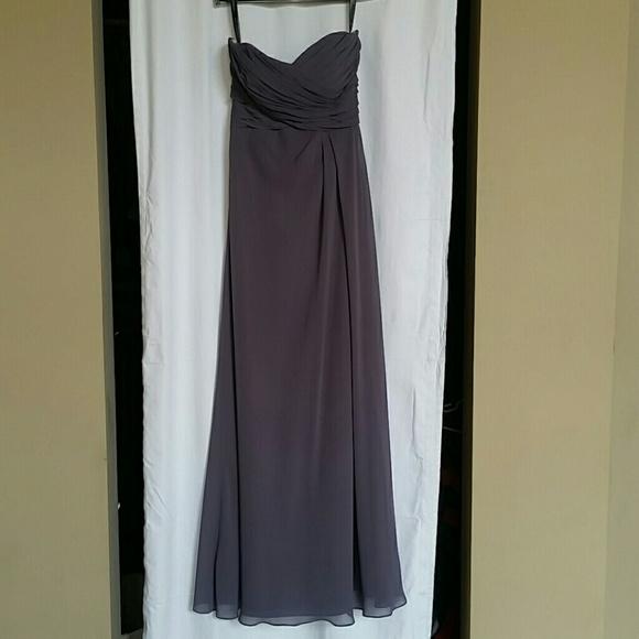 06d482e7ac2 Bill Levkoff Dresses   Skirts - Bill Levkoff RN 82955 Gray Bridesmaid Dress
