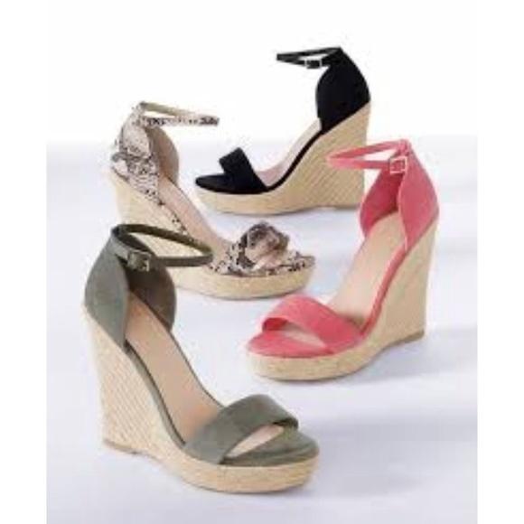 df9abb7fcfd Colin Stuart Shoes - Colin Stuart Black Espadrille Wedge Sandal