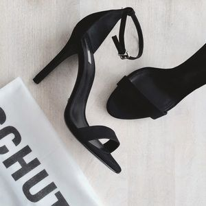 SCHUTZ Shoes - Schutz Cadey-Lee Suede Black Strappy Sandals