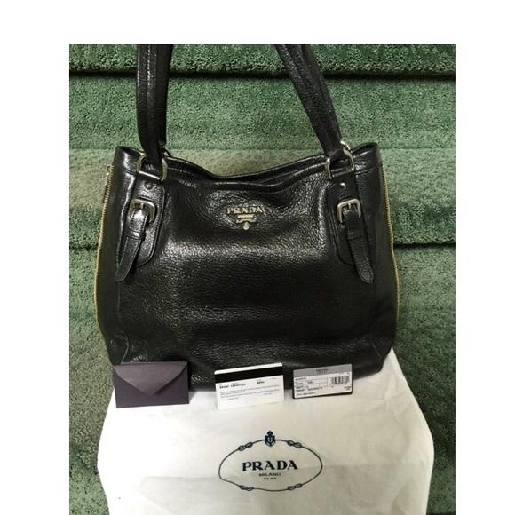 c1ba257afaca Prada Cervo Lux Deerskin Black Sparkling Leather. M 55980dcc9d64e51fbe008d79