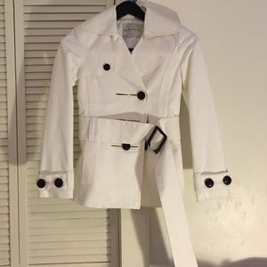 Zara white coat
