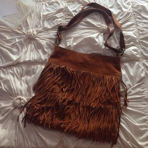Steve Madden Bags - CLOSING SHOP! Fringe suede adjustable bag