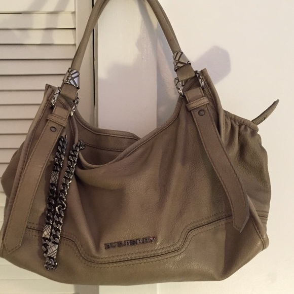 4b45075d37 Burberry Bags | Camel Colored Leather Bag With Chain | Poshmark