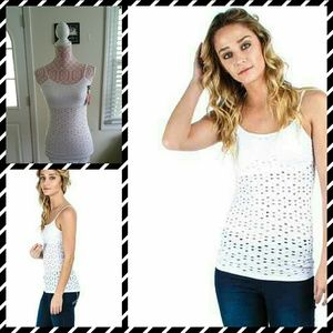Tops - 🎀3 FOR $30 SEXY CUT OUT WHITE TANK