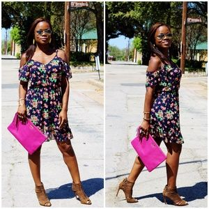 Dresses & Skirts - Floral Off Shoulder Dress