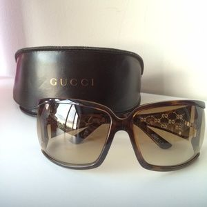 Gucci Accessories - Gucci 2999/S Gold Wire Frame Cutout GG Sunglasses