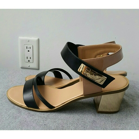 663bf73fd97 Charles   Keith Shoes - Charles   Keith Gold Block Heel Sandals