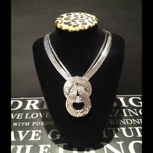 Silver Knotted Necklace