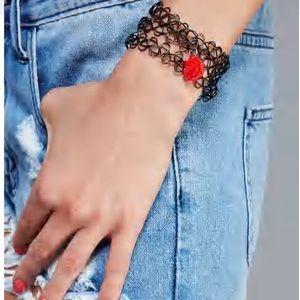 Jewelry - NWT rose charm tattoo bracelet