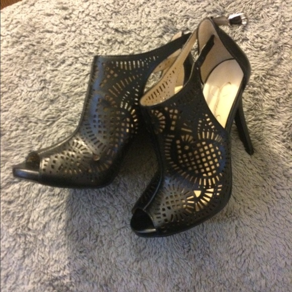 cce5c0072a Jessica Simpson Shoes | Laser Cut Peep Toe Heels | Poshmark